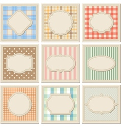 Vintage patterned card templates set vector image