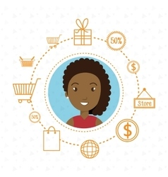 Character money buy web vector