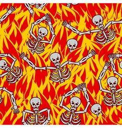 Sinners in fire hell seamless pattern dead in vector image
