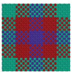 Three colored tartan vector image