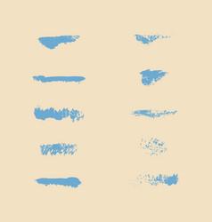 Set of grunge artistic brush strokes vector