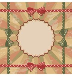 Merry Christmas frame vector image
