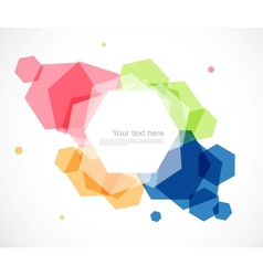 Abstract geometric design vector