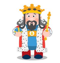 King of clubs cartoon characters vector