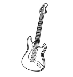 an electric guitar vector image
