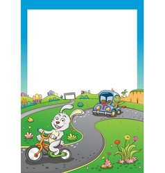Vehicles rabbit turtur background tall vector