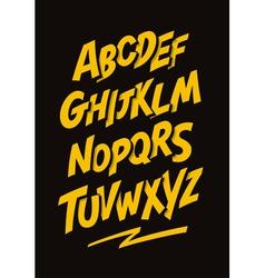 Graffiti comics style font alphabet vector