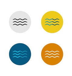 Three lines simple water sea waves icon vector