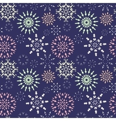 Christmas seamless pattern light color snowflake vector