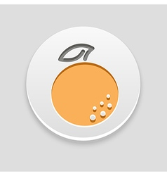 Orange icon fruit vector