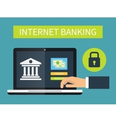 Internet banking online transaction vector