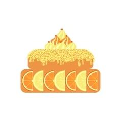 Citrus cake icon on white background vector