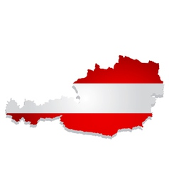 austria flag map vector image