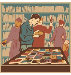 Biblioteka vector image