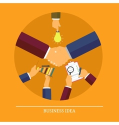 Business idea concept vector image vector image
