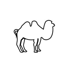 camel it is black icon vector image