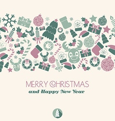 Christmas card Christmas items vector image