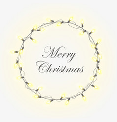 christmas light background with bright vector image vector image