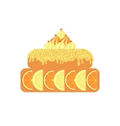 Citrus cake icon on white background vector
