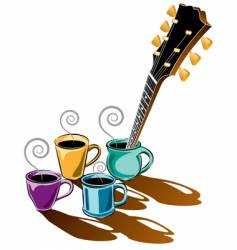 coffee guitar vector image vector image