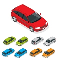 Crossover car isolated on white Flat 3d isometric vector image vector image