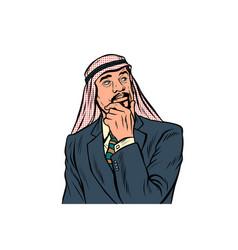 Eastern arabian businessman isolated on white vector