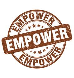 Empower brown grunge stamp vector