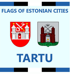 Flag of estonian city tartu vector