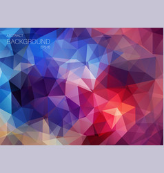 flat retro color geometric triangle wallpaper vector image vector image