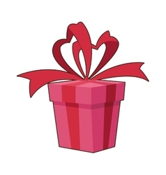Gift with bow icon vector image