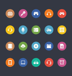 Glyphs colored icons 7 vector