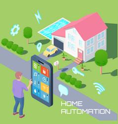 Home automation design concept vector