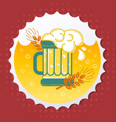 icon beer emblem vector image
