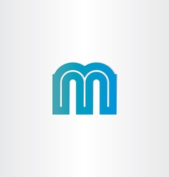 letter m blue icon design vector image vector image