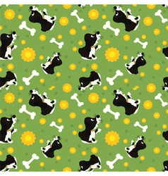 seamless dogs and bone pattern vector image