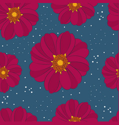 Seamless pattern with rare flower vector