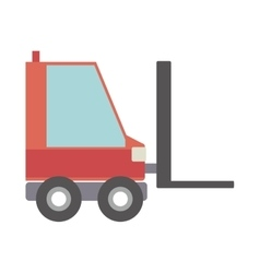 Silhouette forklift truck with forks vector