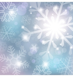 silver abstract background with snowflake vector image vector image