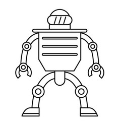 telemechanical device icon outline style vector image