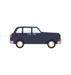 Car old retro side auto vehicle icon vector