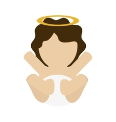 Baby jesus holy family design vector