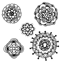 Mandala icon set vector