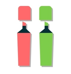 Colored marker highlighters vector image