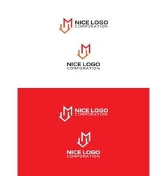 m house logo vector image