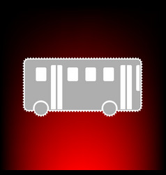 bus simple sign postage stamp or old photo style vector image