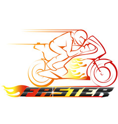 faster racing championship vector image