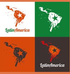 latin america vector image