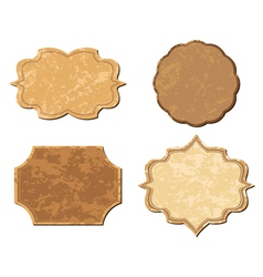 beige vintage frames - set vector image