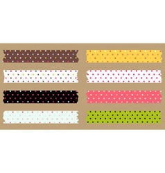 Masking tape set vector