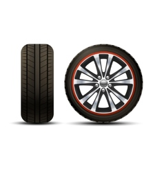 Car Wheel Realistic vector image